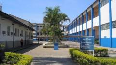 Pátio da Escola de Engenharia de Lorena em 2007. Foto: Simone Colombo/EEL