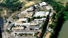 Foto aérea da Escola de Engenharia de Lorena em 2007. Campus 1. Foto: André Arras/EEL