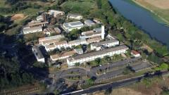Foto aérea da Escola de Engenharia de Lorena em 2007.Campus 1. Foto: André Arras/EEL