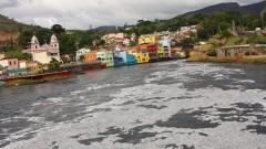 Águas poluídas do Rio Tietê em Pirapora do Bom Jesus, interior do Estado de São Paulo. Foto: Marcos Santos.