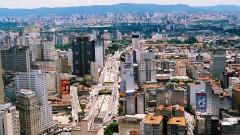 Vista aérea da cidade de São Paulo - SP.