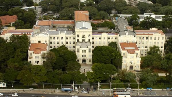 Vista aérea da Faculdade de Medicina da USP.