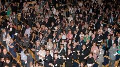 Detalhe de espectadores durante apresentação da Orquestra Sinfônica da USP (OSUSP) na Sala São Paulo, sob a regência de Ligia Amadio, na cerimônia de posse do professor João Grandino Rodas como Reitor da USP (25/01/2010). Foto: Marcos Santos / USP Imagens