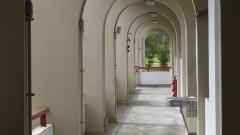 Vista interna do prédio do Departamento de Artes Cênicas (CAC) da Escola de Comunicações e Artes (ECA). Foto: Marcos Santos / USP Imagens