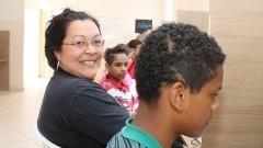 Líder comunitária Maria Aparecida Gomes Clementino. Foto:Marcos Santos/USP Imagens