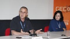 Professor José Carlos Maldonado, presidente do Conselho Gestor do Campus de São Carlos e a Jornalista Marcia Blasques presidente do Gecom. Foto Marcos Santos/USP Imagens