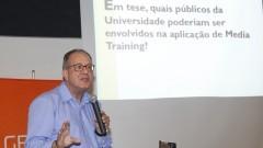 Media Training: Como e porque aplicar. Palestra com o Jornalista Jorge Vasconcellos em São Carlos. Foto: Marcos Santos/USP Imagens