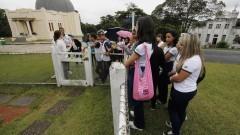 Estudante visitam a Estação Meteorológica do IAG. Foto: Marcos: Marcos Santos/USP Imagens