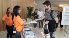 Recepção dos participantes do GECOM. Foto: Marcos Santos/USP Imagens