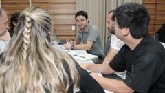 Grupos de trabalho GECOM. Foto: Marcos Santos/USP Imagens