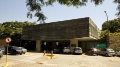 Fachada do prédio da mecânica, Naval e mecatrônica. Foto: Marcos Santos/USP Imagens