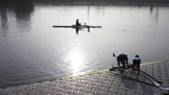 Praticantes de remo na raia olímpica da USP. Foto: Marcos Santos/USP Imagens
