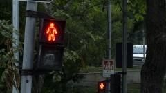 Semáforo de pedestre com o sinal vermelho. Foto: Marcos Santos/USP Imagens
