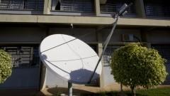 Detalhe de antena de recepção e transmissão de dados sismológicos para a Rede Sismográfica Brasileira no Centro de Sismologia do Instituto de Astronomia, Geofísica e Ciências Atmosféricas (IAG). Foto: Marcos Santos / USP Imagens