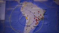 Detalhe de tela de monitoramento demonstrando magnitude de tremor ocorrido no Chile e Estações Sismográficas no Centro de Sismologia do Instituto de Astronomia, Geofísica e Ciências Atmosféricas (IAG). Nas estações existe um sistema de detecção automática de tremores de terra em tempo real. Foto: Marcos Santos / USP Imagens