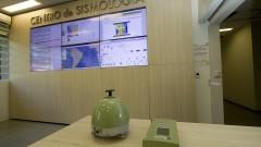 Detalhe de aparelhos usados na medicação de tremores de terra no Centro de Sismologia do Instituto de Astronomia, Geofísica e Ciências Atmosféricas (IAG). Foto: Marcos Santos / USP Imagens