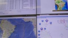 Detalhe das telas de monitoramento do Centro de Sismologia do Instituto de Astronomia, Geofísica e Ciências Atmosféricas (IAG). Foto: Marcos Santos / USP Imagens