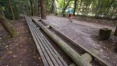 Atividade física no Parque Esporte para Todos. Foto: Marcos Santos/USP Imagens