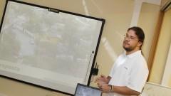 Apresentação dos projetos de inovação tecnológica. Foto: Marcos Santos/USP Imagens
