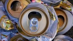 Latas recolhidas para reciclagem. Foto: Marcos Santos/USP Imagens