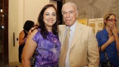 Professora  Sueli Mara S.P. Ferreira e Professor Flávio Fava de Moraes. Foto: Marcos Santos/USP Imagens