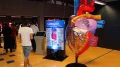 Exposição Vias do Coração ma Estação Ciência. Foto: Marcos Santos/USP Imagens