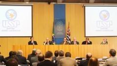 Lançamento do Ciba no Conselho Universitário (CO). Foto: Marcos Santos / USP Imagens