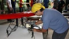 Equipe da Poli de aeromodelismo. Foto: Marcos Santos/ USP Imagens