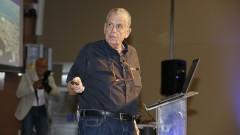 Aaron Cichanover, prêmio nobel de química de 2004, no auditório do Inrad. 2017/08/09 Foto: Marcos Santos/USP Imagens