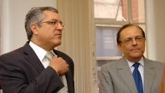 Ministro Alexandre Padilha e Reitor João Grandino Rodas. Foto: Cecilia Bastos / Jornal da USP