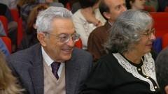Prof. ALfredo Bosi e Profª Ecléa BosiBosi, na comemoração dos 40 anos do IP/USP. Foto: Cecília Bastos/Jornal da USP