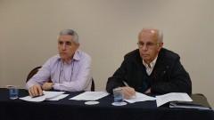 Sebastião de Souza Almeida, Nei Fernandes de Oliveira Jr, no 2º Encontro de Dirigentes da USP (GEINDI). Crédito: Francisco Emolo/Jornal da USP