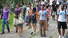Recepção aos novos alunos da ECA. Foto: Cecília Bastos/Jornal da USP