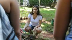 Ana Carolina Prager. FSP - Faculdade de Saúde Pública. Mutirão da horta. 2017/02/23 Foto: Marcos Santos/USP Imagens