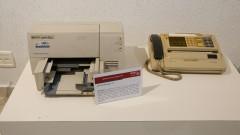 Aparelho de Fax Toshiba TF 131. Ano de fabricação 1990. Museu de Computação Professor Odelar Leite Linhares. 2017/10/05 Foto Marcos Santos/USP Imagens