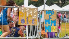 Cartaz da PoliGen na Poli - Recepção do dia da Matrícula dos Ingressantes pela FUVEST. 2017/02/13 Foto: Luenne Neri/USP Imagens