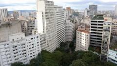 Detalhe de vegetação em meio a prédios da região central da cidade de São Paulo. Foto: Cecília Bastos/Jornal da USP