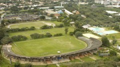 Foto aérea do Conjunto de Práticas Esportivas (Cepe). Foto: Jorge Maruta / Jornal da USP