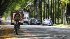 Vias destinadas ao transporte de bicicleta. Foto: Marcos Santos/USP Imagens
