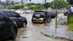 reg. 048-16 Enchente na Zona Leste. Avenida Afonso de Sampaio e Sousa, na zona leste alagada após chuvas.  24/02/2016 Foto Marcos Santos/Jornal da USP