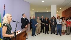 Claudia Regina Furquim de Andrade na inauguração do Bloco Didático da FOFITO FMUSP. Foto: Francisco Emolo/Jornal da USP