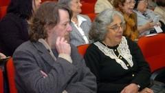 Prof. Yves de Las Taille e Ecléa Bosi, na comemoração dos 40 anos do IP/USP. Foto: Cecília Bastos/Jornal da USP