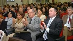 Secretário Geral da USP Prof. Rubens Beçak e professores de outras unidades prestigiando o evento comemorativo aos 40 anos do IP/USP. Foto: Cecília Bastos/Jornal da USP