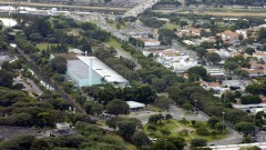 Vista aérea da Escola de Educação Física e Esporte (EEFE). Foto: Jorge Maruta / Jornal da USP