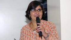 Elisa Miranda Aires, no 1º Workshop Internacional de Cuidados Paliativos no HU/USP. Crédito: Francisco Emolo/Jornal da USP