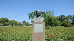 Estatua de Ernesto de Souza Campos, cidade universitaria . foto Cecília Bastos