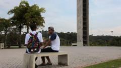 Estudantes de escola pública, Vestibulando circulando na USP. foto Cecília Bastos/Usp Imagem