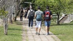 Estudantes circulam pela Avenida Luciano Gualberto. Foto: Marcos Santos/USP Imagens