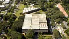Vista aérea da Faculdade de Arquitetura e Urbanismo (FAU). Foto: Jorge Maruta / Jornal da USP