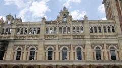 Museu da Língua Portuguesa após incêndio